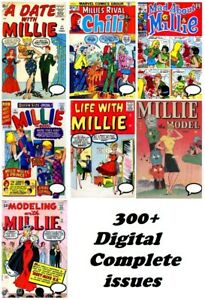 MILLIE THE MODEL Comic Collection (1945-on) 300+ Issues Silver Age, CHILI Giant