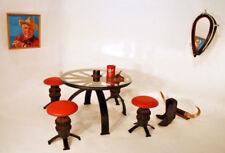 70s Bonanza WILDest WEST   tisch +  4 stühle + kummet - spiegel   heavy stuff