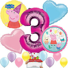 Peppa Pig Party Supplies Balloon Decoration Bundle for 3rd Birthday