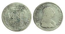pci0620) Regno di Napoli Carlo Borbone 1/2 piastra 1750 Estesa Doppia Battitura