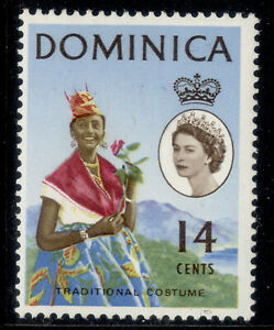 DOMINICA QEII SG171a, 14c eyes to the right, M MINT.