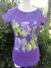 T SHIRT FEMME ADO FILLE SPORT MARQUE ADIDAS TBE VIOLET  TAILLE 36 38 ETE COLORE