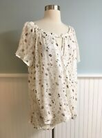 Size Large L Women's Cherish Boutique Sheer Wrap Front Shirt Top Blouse NWT New