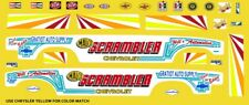 Gratiot Auto Supply Scrambler Chevrolet NHRA 1/32nd Scale Slot Car Decals