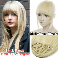 Women Straight 100% Remy Human Hair Top Bang in Frontal Fringe Hairpiece 25g-50g