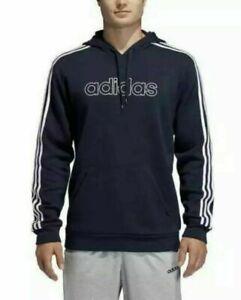 adidas Men's 3 Stripe Fleece Lined Hoodie Sweatshirt