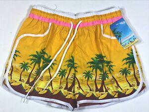 Vintage Swim Shorts or Trunks- Sexy Swimwear Unisex Women Men Jogging Running