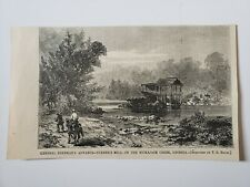 Nickajack Creek Georgia Breneman Turner's Mill 1864 Civil War Sketch Print