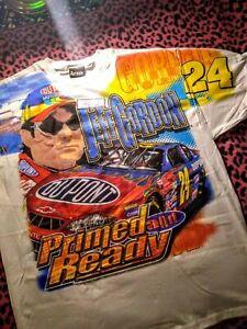 VTG NOS Retro Vintage NASCAR Jeff Gordon T Shirt DuPont 2001 All Over Print XL