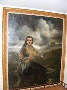 "Joe King aka ""Vinciata"" Original Oil Painting ""Young Mother"" 1957 - Very Large"