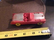 Auburn Rubber Co. Cadillac Convertible #504 Red & Silver w/ Yellow Tires USA