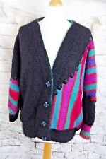 """VINTAGE 80 s Mohair Cardigan buste 48"""" 20 22 XL Oversize - 80 s moelleux Fuzzy"""