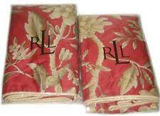 2 RALPH LAUREN Villa Camelia Floral STANDARD SHAMS NEW 1ST QUALITY PAPRIKA RED