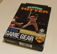 Clutch Hitter Sega Game Gear Game CIB complete, boxed, great condition