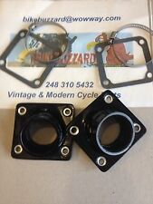 Yamaha RD350 RD400 32mm 34mm Carb Intake Manifold Kit + gaskets NEW!