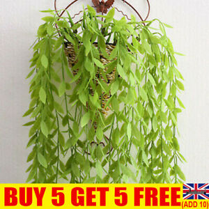 Artificial Hanging Flower Plant Fake Vine Willow Rattan Home Wedding Wall Decor