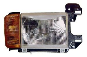 1990-1991 Ford F-150/F-250/F-350/Bronco Right/Passenger Side Headlight Unit