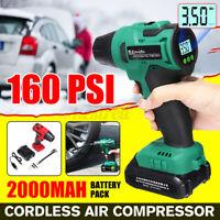 AUDEW 12V Portable Cordless Air Compressor Tire Inflator LCD Digital Hand Held