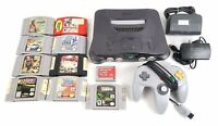Nintendo 64 Console Bundle - Controller, Cables, Games, and Memory Card