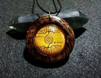 As above so below Tree of Life Pendant in Burnt Oak, spiritual, rustic jewellery
