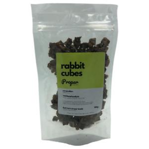 Proper Dog Treats 100% Natural Pure Rabbit Cubes Training Treats 100g