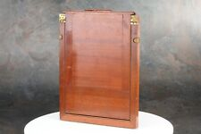 ":Vintage Wooden 6¼ x 8¼"" Quarter Plate Slide Film Single Holder"