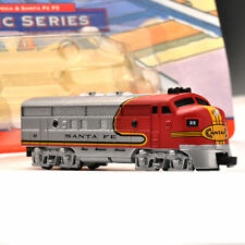 "1/160 4"" SANTA FE Train Model Diecast Vehicles Model Toys Movable Wheels F Gift"