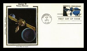 DR JIM STAMPS US MARINER 10 VENUS MERCURY SPACE COLORANO SILK FDC COVER UNSEALED