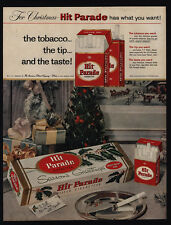1957 Give Cartons Of HIT PARADE Cigarettes As Christmas Gifts -  VINTAGE AD