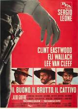 THE GOOD, THE BAD AND THE UGLY Movie POSTER 11x17 Italian G Clint Eastwood Eli
