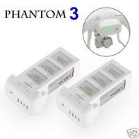 2 Pack Intelligent LiPo Battery For DJI Phantom 3 Pro Advanced Standard 4K