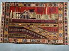 The Best Early Soviet Era Afghan Cityscape War Rug on the Market