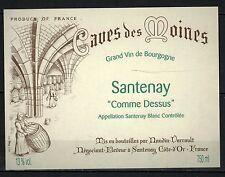 Etiquette de Vin - Bourgogne -Santenay  - New - Never Stuck - Réf.n°16