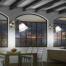 2er Set Wand Lampen Wohn Zimmer Alt Messing Leuchten Glas Beleuchtung Antik Stil