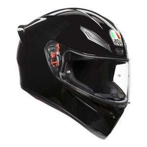 AGV K-1 black motorcycle road race full face helmet