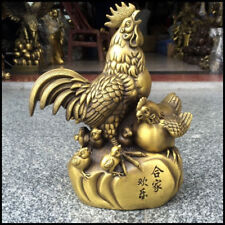 China pure copper chicken Lucky feng shui crafts Decoration Statue