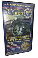 Steam & Diesel On The B&O Herron Rail Video 1950's Action in Ohio VHS Tape Morse