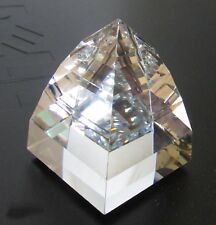 "2.75"" Tall Swarovski Cal Z Pyramid Paperweight 7450 050 Retired Large Sc Sticker"