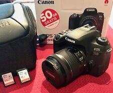 Canon EOS 77D SLR-Digitalkamera mitEF-S 18-55 IS STM Objektiv