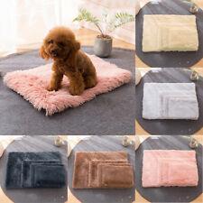 Soft Fleece Pet Cat Dog Bed Reversible Dog Crate Bed Mat Mattress Kennel S-XL