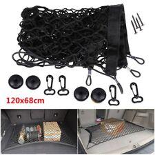 120x58CM Car SUV Rear Trunk Cargo Net Elastic Mesh Storage Fixed Set Kit Black