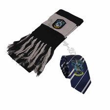 2pcs Harry Potter Ravenclaw Scarf  + Necktie Tie Costume Cosplay Xmas's Gift