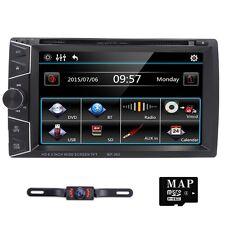 GPS Navigation Double 2Din Car Stereo DVD Player MP3 iPod BT SD+Backup Camera