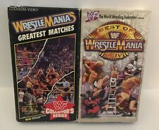 Lot of 2 WWF WrestleMania VHS Tapes - Greatest Matches & Best Of I-XIV - WWE WCW
