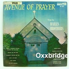 AUDIO LAB Avenue Of Prayer BAILES BROTHERS GOSPEL LP Country 1959 BLUEGRASS