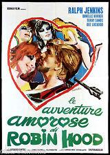 LE AVVENTURE AMOROSE DI ROBIN HOOD MANIFESTO CINEMA USA 1969 MOVIE POSTER 4F