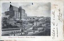 """"""" SIENA : Chiesa S. Domenico e Fonte Branda """"  Viaggiata  Anno 1900"""