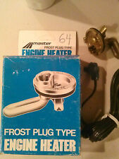 Master Frost Plug Engine Heater Model # 64 Great for winter start engine faster
