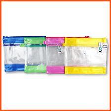 64026edb8f207 12 X PVC Pencil Case W  ZIPPER B5 Organiser Storage School Zip Office Clear  Pen