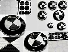 7PC BMW Emblem Overlay Sticker Carbon Fiber HOOD ORNAMENT BADGE SET E46 E60 E92